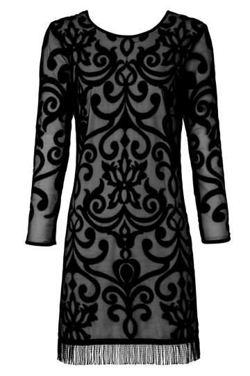 ana alcazar Cocktail Dress Zaurea Black