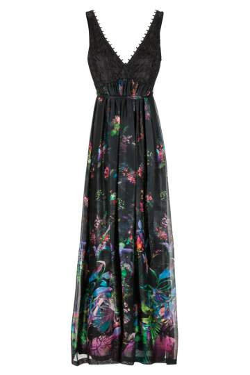Ana Alcazar Long Silk Dress Ginny