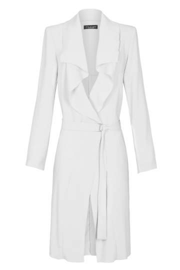 Ana Alcazar Coat White Fabiosa