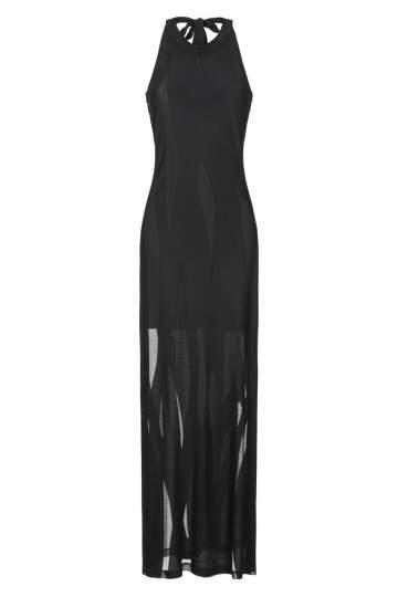 Ana Alcazar Maxi Dress Black Faleara