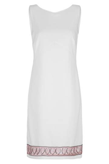 Ana Alcazar Shift Dress White Faboly