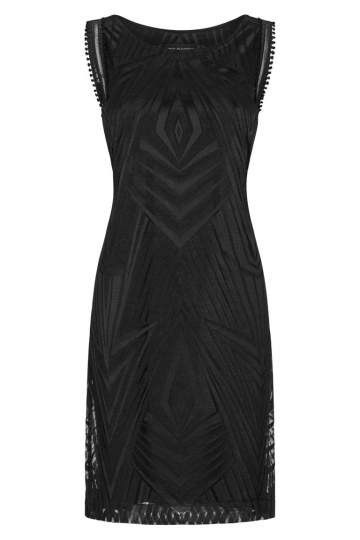 Ana Alcazar Graphic Dress Black Felisa