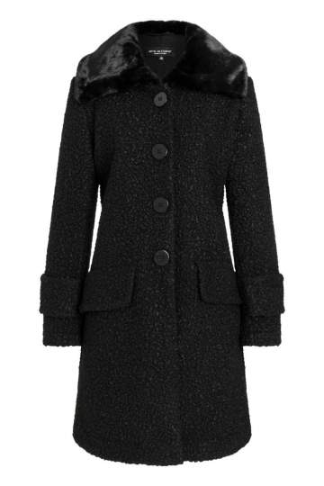 Ana Alcazar Fake Fur Coat Oleni Black