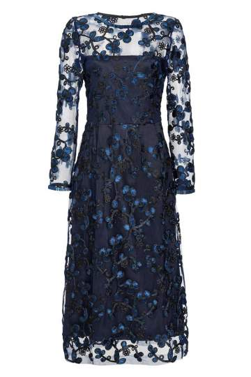 Ana Alcazar Black Label Midi Lace Dress Juvendis