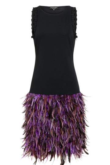 Ana Alcazar Black Label Feather Cocktaildress Juvene