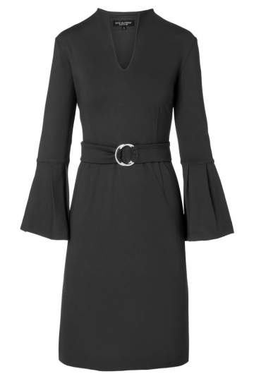 Ana Alcazar Volant Dress Octa Black