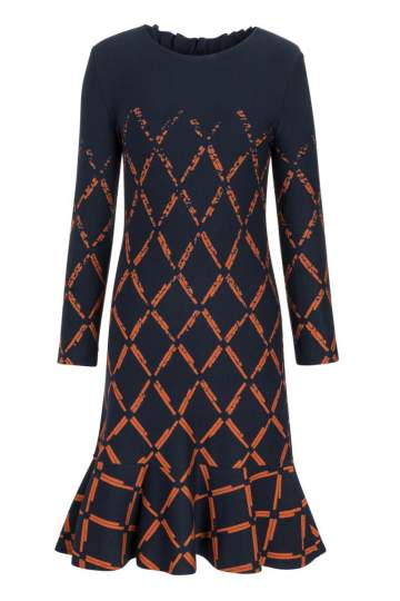Ana Alcazar Volant Dress Prafala Blue-Orange