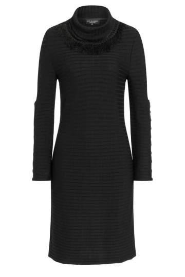 Ana Alcazar Deco Dress Pomeny Black