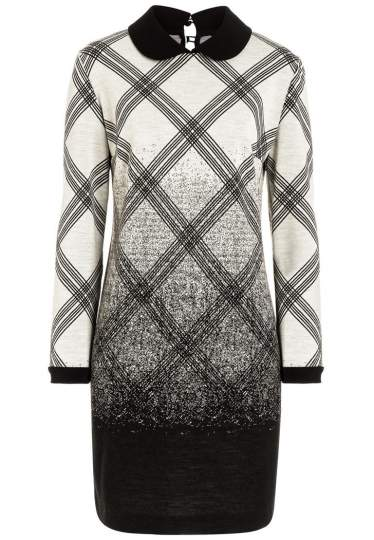 Ana Alcazar Graphic Collar Dress Ravea