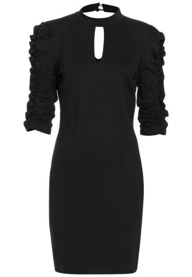 Ana Alcazar Sleeve Dress Resys Black