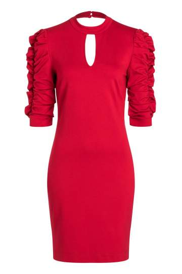 Ana Alcazar Sleeve Dress Resyas Red
