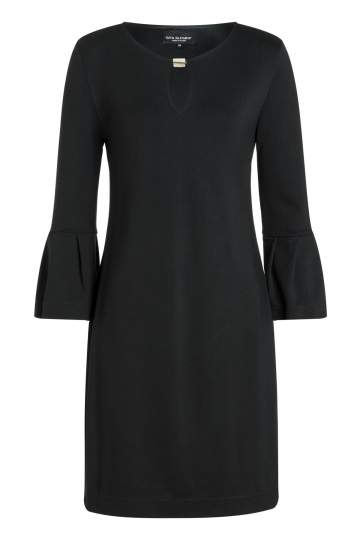 Ana Alcazar Volantsleeve Dress Rasya Black