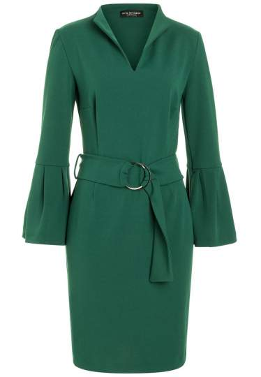 Ana Alcazar Belt Dress Romys Green