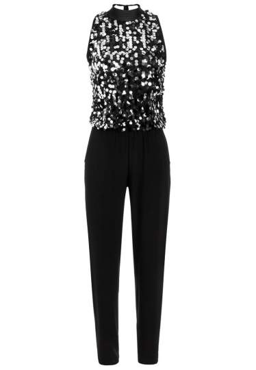 Ana Alcazar Glam Sequin Jumpsuit Rhetea Black