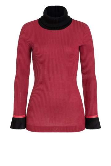Ana Alcazar Turtleneck Shirt Picabea Red