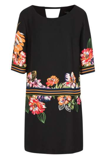 Ana Alcazar Tunic Dress  Meanis Black