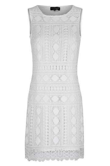 Ana Alcazar A-Shape Dress White Flawola