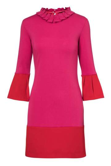 Ana Alcazar Volant Dress Opalea Pink-Red