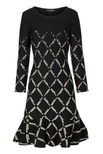 Ana Alcazar Volant Dress Prafuly Black-White