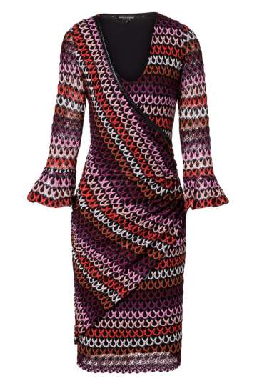 Ana Alcazar Wrap Dress Plyrka Bordeaux