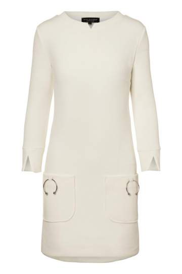 Ana Alcazar A-Shaped Dress Perriny White