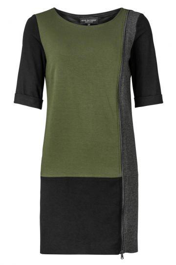 ana alcazar Modernes Kleid Zimony Olive
