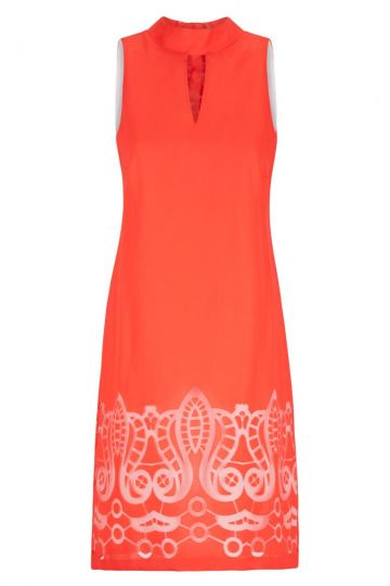 Ana Alcazar A-Linien Kleid Red-White Feyana