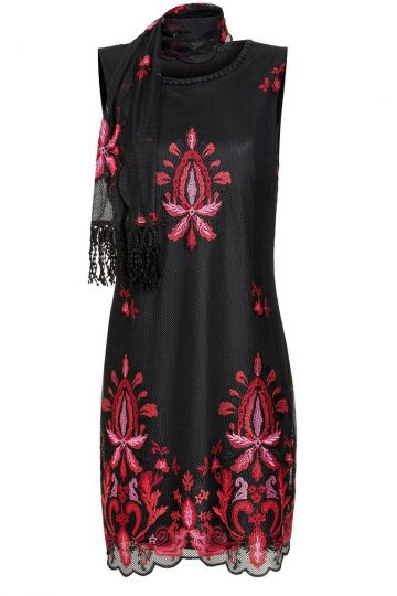 Ana Alcazar Besticktes A-Linien Kleid Laeny