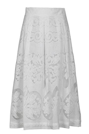 Ana Alcazar Lace Skirt White Fernanda