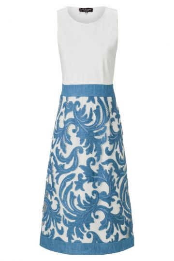 ana alcazar Mixed Denim Dress Adaely