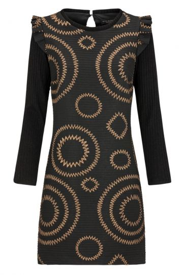 Ana Alcazar Rüschen A-Linien Kleid Klea