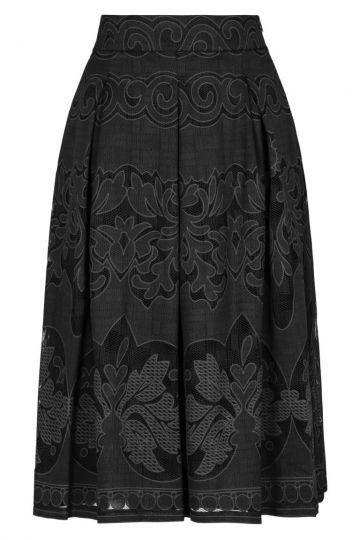 Ana Alcazar Lace Skirt Black Fernandis
