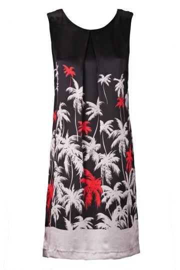 A-Linien Kleid Virylis mit Palmen-Print
