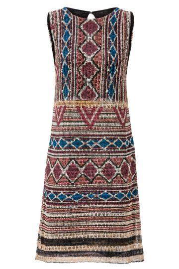 A-Linien Kleid Analeary im Ethno-Strick