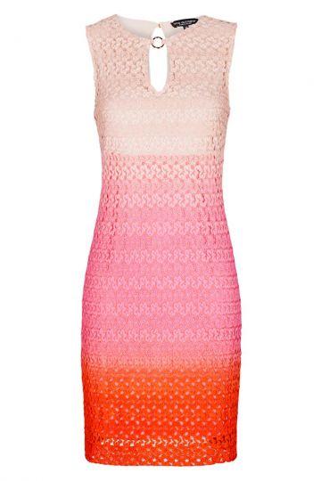 Rot-Pink Strickkleid in A-Linie | Ana Alcazar