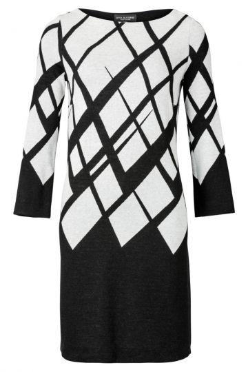 Tunikakleid Zoweny in Schwarz und Weiß