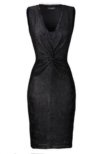 Kleid mit Knoten Vohenia in Schwarz