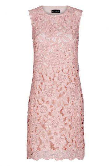 Rosa A-Linien Kleid Fealipis aus floraler Spitze