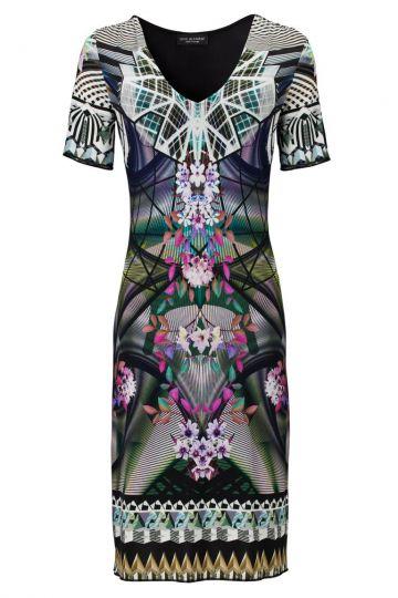 Kurzarm Kleid Voscerea mit Fantasie-Print