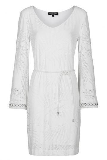 Weißes Tunikakleid Faretea Langarm