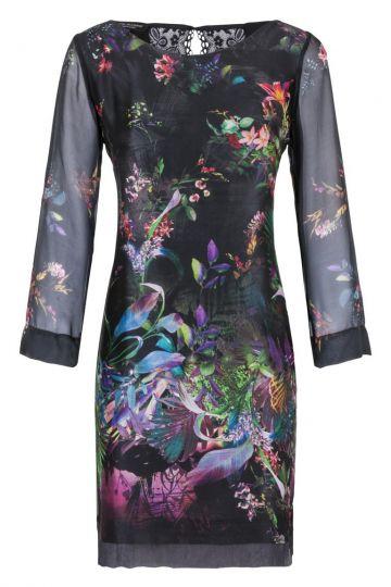 Seiden Tunikakkleid Ginnea Tropic Print