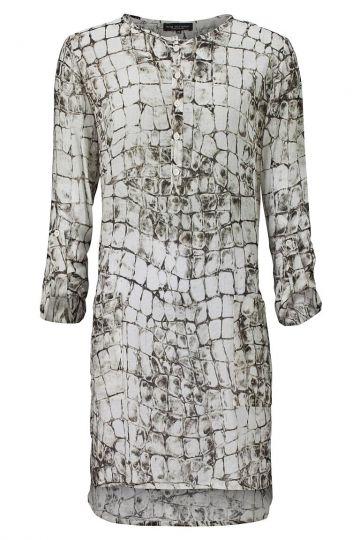 Hemdblusenkleid Vasia mit Reptil-Print
