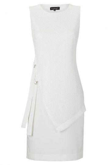 Asymmetrisches Kleid Vohea in Weiss