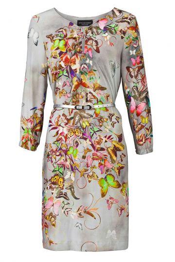Langarmkleid Villowen mit Schmetterling-Print