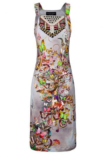 Sommerkleid Villowea mit Schmetterling-Print