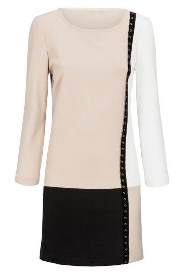 Grafikkleid Dremonte in Schwarz, Beige und Weiß | Ana Alcazar