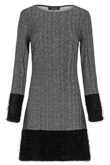 A-Linien Kleid Doregrey in Grau & Schwarz | Ana Alcazar