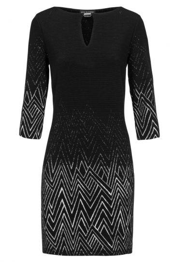Schwarz&Weiß Tunika Kleid Desirea mit Cut-Out | Ana Alcazar