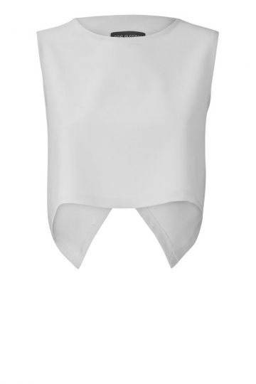 Crop Top Voya White in Weiß