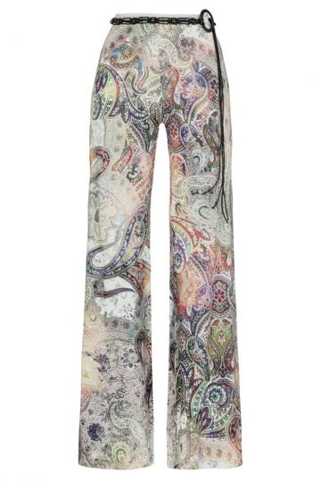 Bequeme Sommerhose Bianco im Paisley Print